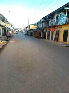 Biafra: Banks, Market Shops locked down, roads deserted as South east complies with IPOB's sit at home order (Photos)