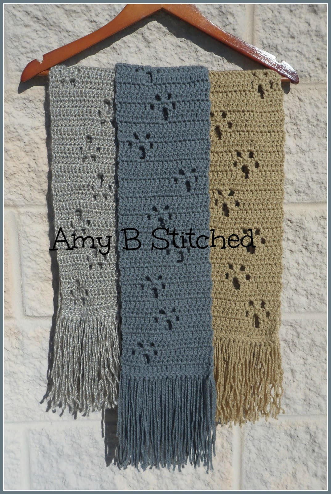 Free Crochet Pattern For Paw Print : A Stitch At A Time for Amy B Stitched: Meandering Paw ...