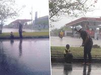 Viral Kisah Bocah Berseragam TK Hujan-hujanan Demi Orangtua, Bikin Netizen Nangis Campur Jengkel
