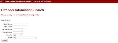 TSCJ Inmate Search online