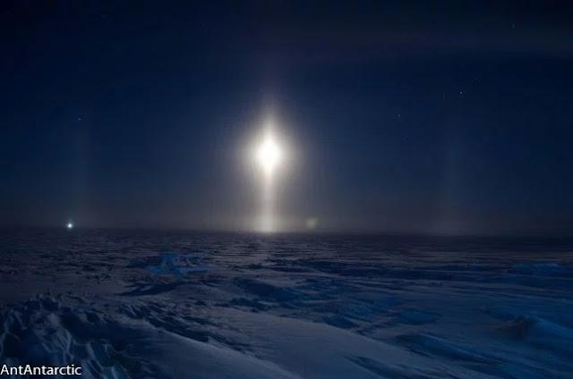 pilar de luz - Lua