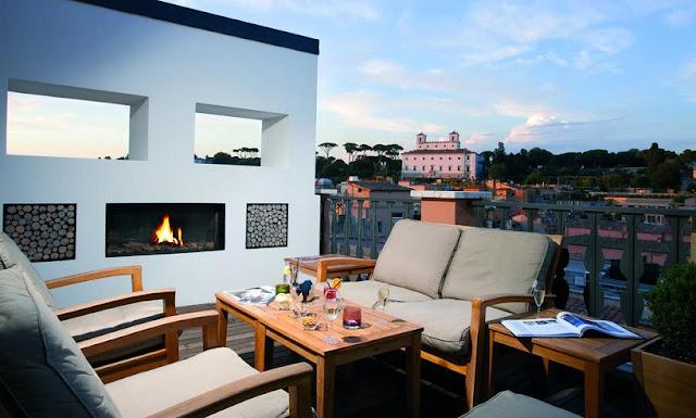 Vista do Hotel Portrait Roma em Roma