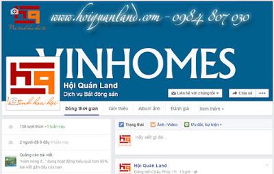 Fanpage bất động sản trên Facebook