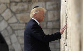 Trump Becomes First Sitting U.S. President To Visit Jerusalem's Western Wall as he and Jared Stop To Pray At Judaism's Holiest Site