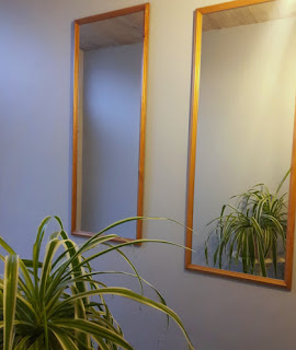 couloir, miroirs, gris gustavien, phalengère