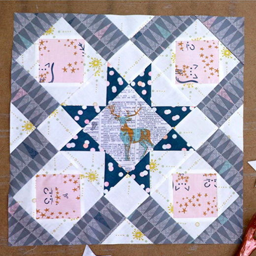 Polly's Favorite Block Free Tutorial designed by Melissa Boike of Live art gallery fabrics