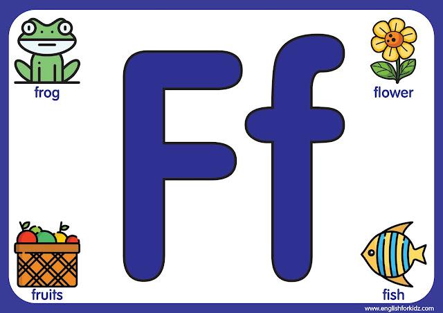 Letter f - big printable alphabet letters