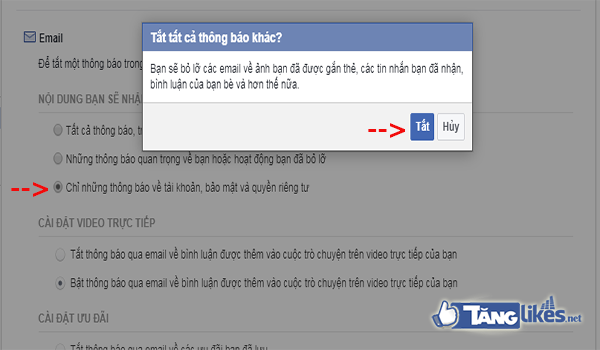 cach chan thong bao tu facebook ve email dang ky