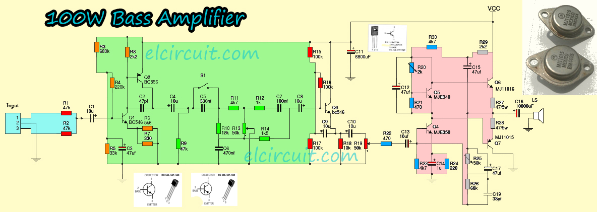 100w Bass Power  lifier Mje340 Mje350 besides Arduino Parts And Sensors further Using Capacitors For Flashing Lights furthermore Switching Between Circuits Transistor Based Spdt moreover Allband. on simple pnp transistor circuit