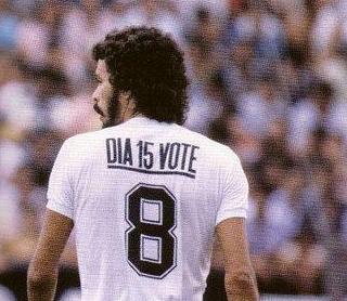 """Corinthians e sua camisa """"Dia 15 Vote"""" ~ O Curioso do Futebol"""