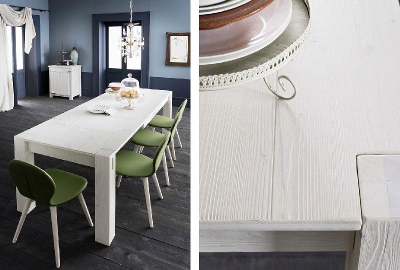Tavolo allungabile Easy Stoccolma di Altacorte finitura abete bianco