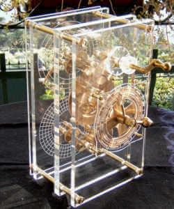 Model zrekonstruowanego mechanizmu z Antykithery