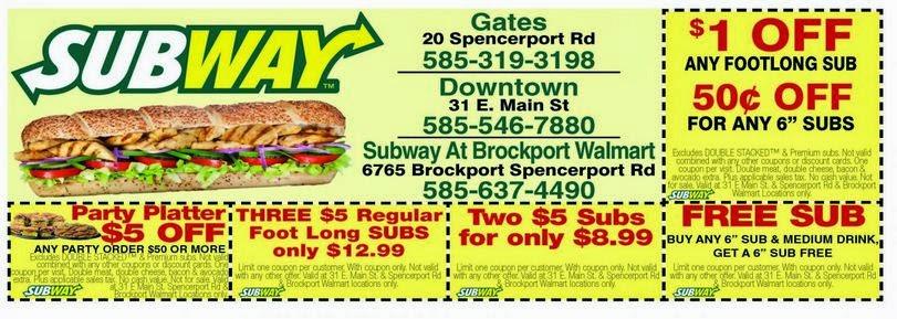 Subway coupon codes