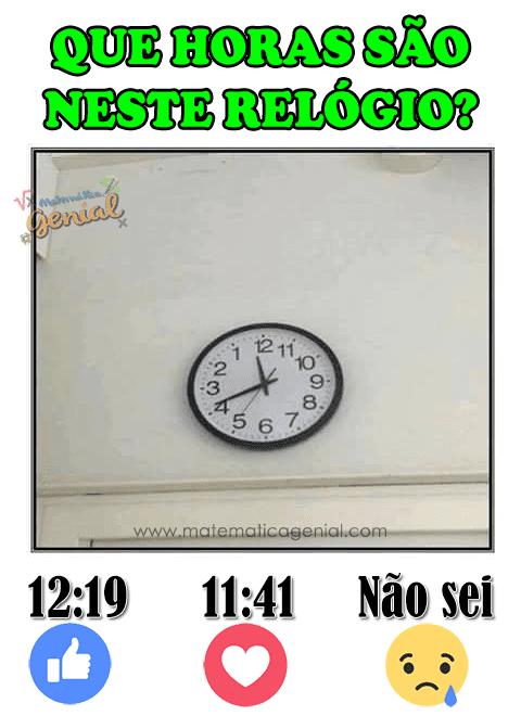 Desafio: Que horas são neste relógio?