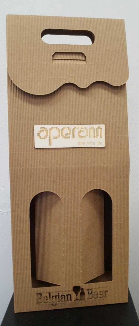 Pudełko na dwa wina z logo