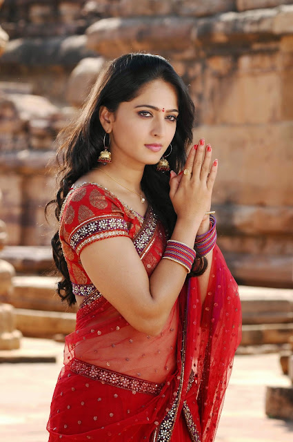 Anushka Shetty in Red Saree ~  Exclusive.jpg 24.jpg