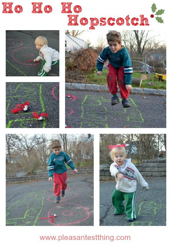 HO HO HO Hopscotch- fun Christmas activity