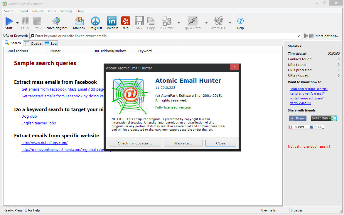 Atomic Email Hunter 11.20.0.223 Multilingual + Crack [DDL-UC]