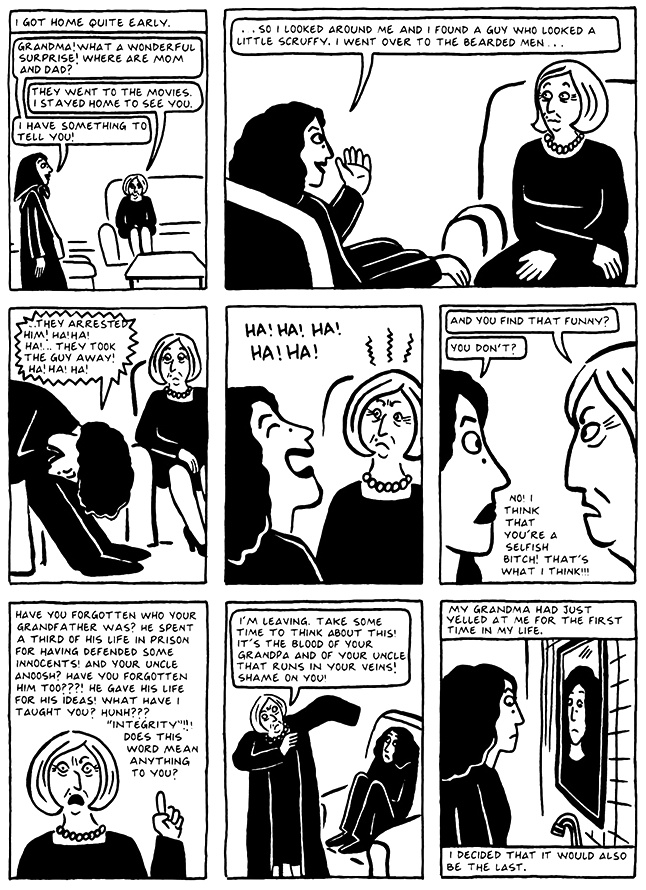 Read Chapter 14 - The Makeup, page 137, from Marjane Satrapi's Persepolis 2 - The Story of a Return
