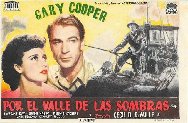 Por el Valle de las Sombras - Programa de Cine - Gary Cooper - Laraine Day