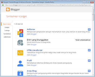Memahami widget blogger dan kegunaannya