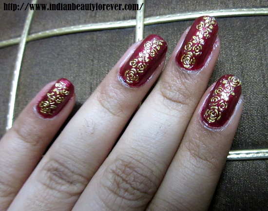 bridal nail art design