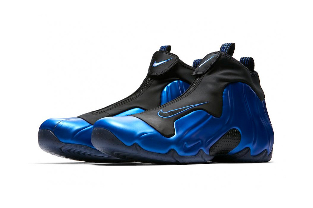 """new arrivals de27f 88213 This time, the late- 90s silhouette looks to the same metallic blue hue as  the Air Foamposite One XX """"Royal"""" that released in 2017."""