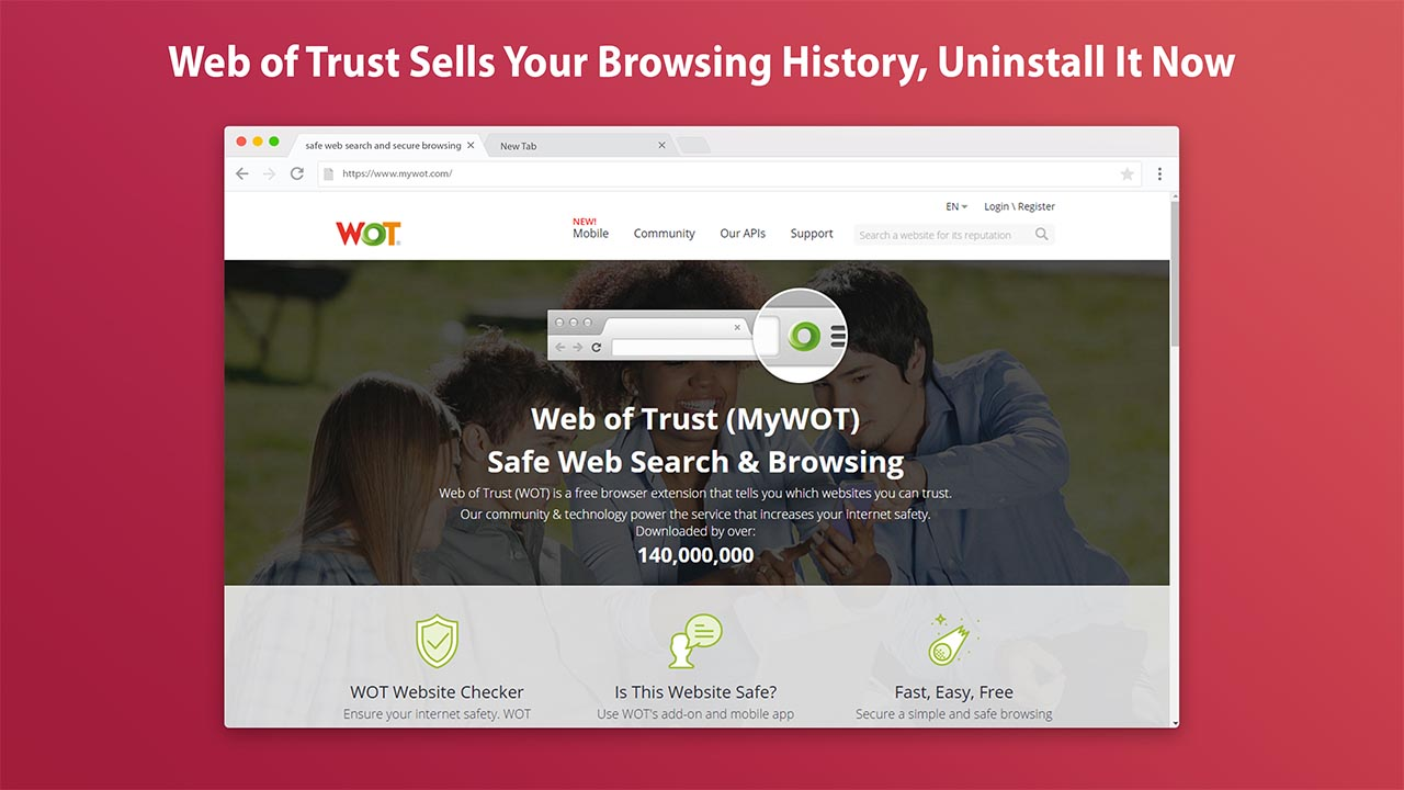 Web of Trust Sells Your Browsing History, Uninstall It Now
