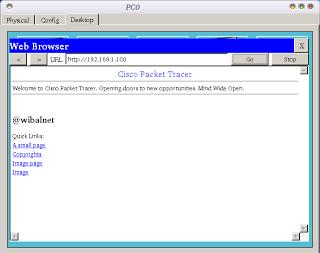 Cara Setting Web Server dengan Cisco Packet Tracer - Web server merupakan tempat maupun wadah berisi file-file web yang ingin dipublikasikan. File-file web itu dapat berupa tulisan, gambar, audio maupunpun video.
