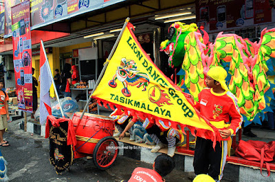 Lion dance team from Tasikmalaya.