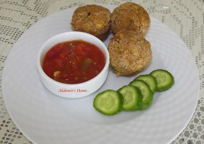 Sebzeli Tavuk Köfte - Top Kek Kalıbında