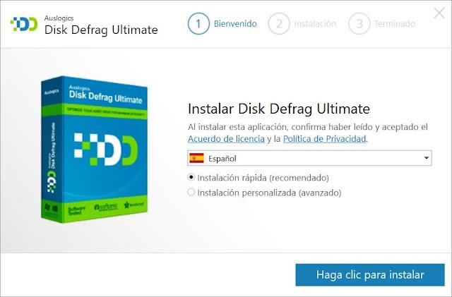 Auslogics Disk Defrag Ultimate Full imagenes