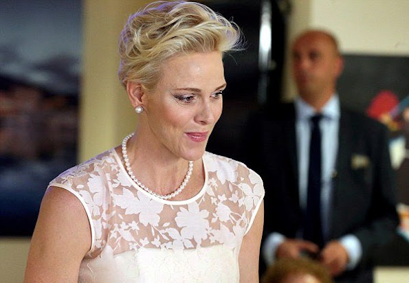 Princess Charlene of Monaco Visited 'A Quietudine' Retirement, Nursing Home/Center in Monaco, Princess Charlene style-Fashion
