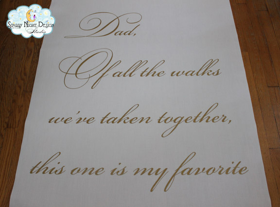 Aisle Paint For You Make Dad Proud With This Personalized Wedding