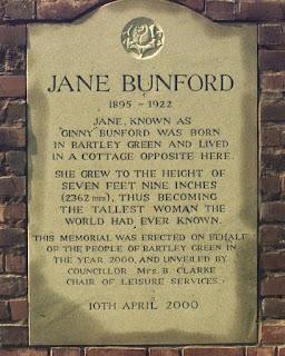 Lápida en memoria de Jane Bunford