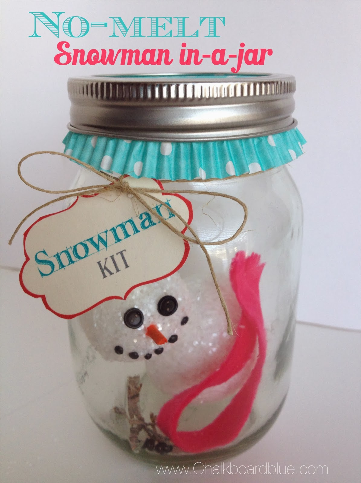 Craft For Kids Snowman In A Jar Simplykierste Com