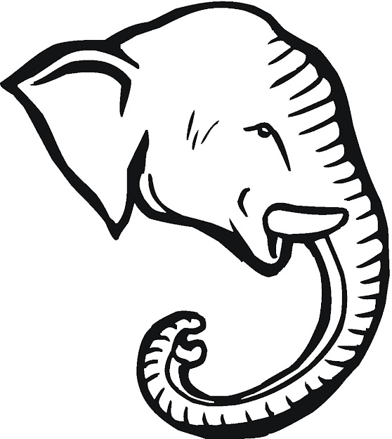 Pictures To Print And Color Of Elephants  Elephant Head Coloring Pages To  Print Elephant Free