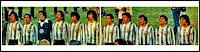 SELECCIÓN DE ARGENTINA - Temporada 1978-79 - Passarella, Gallego, Fillol, Luque, Olguín, Tarantini, Ardiles, Galván, Houseman, Maradona y José Valencia - ARGENTINA 1 (Maradona) SELECCIÓN DE FIFA WORLD STARS 2 (Galván p.p., Zico) - 25/06/1979 - Partido amistoso aniversario de la Copa del Mundo - Buenos Aires, Argentina, estadio Monumental