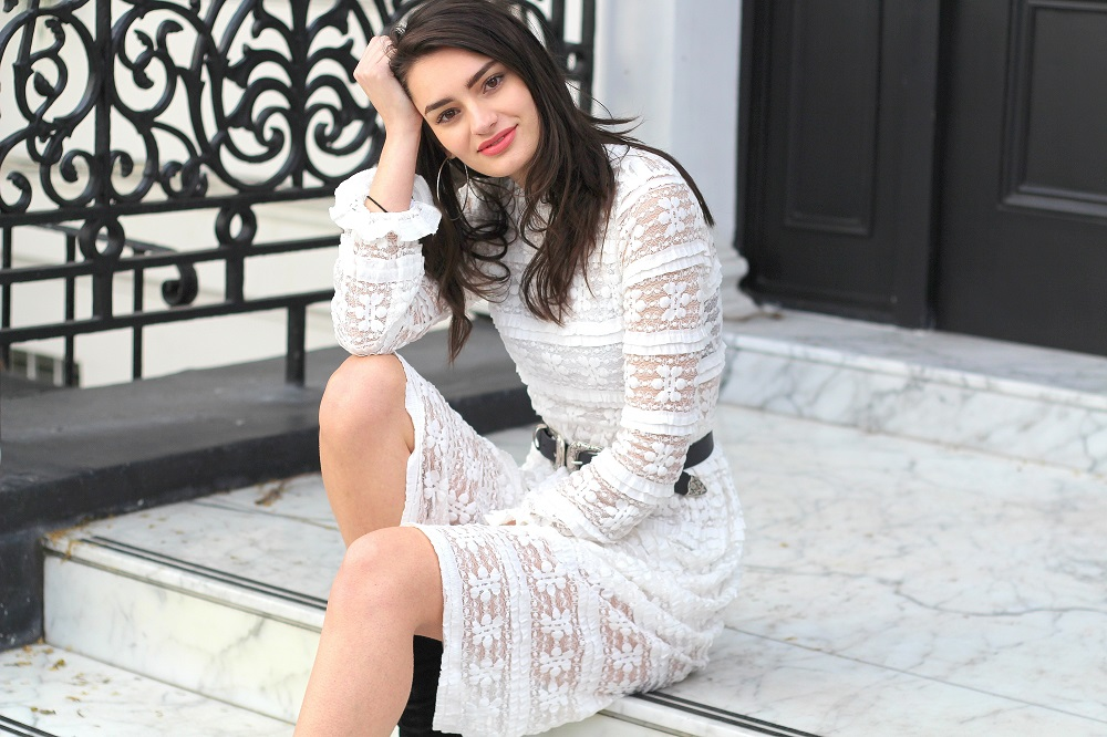 fashion lace midi dress peexo