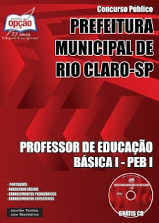 Apostila Concurso Prefeitura de Rio Claro-SP 2016 - Professor de Educação Básica I