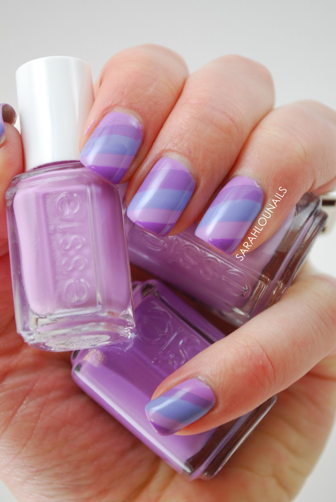 Sarah Lou Nails: Pastel Purple Stripes