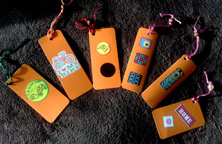 Bookmarks with stickers + recycle