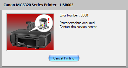 Canon MG5320 Error 5B00