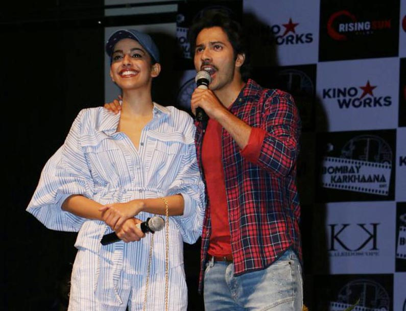 Varun Dhawan and Banita Sandhu at Sophia College