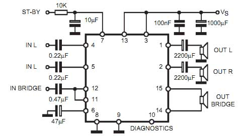 Stereo To 5 1 Channel Converter Circuit | Circuit Diagram