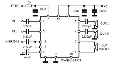 Stereo to surround sound systems ~ Schematic diagram circuit