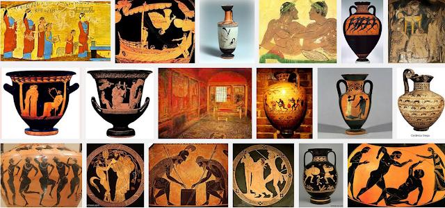 """AULA DE ARTE : ATIVIDADE 05 """"Arte antiga – PINTURA GREGA"""""""