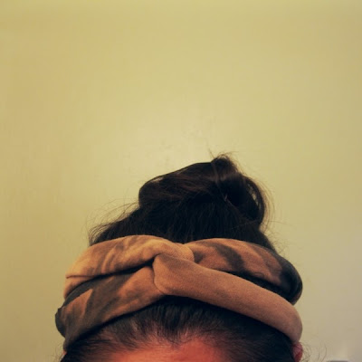 DIY tshirt headband