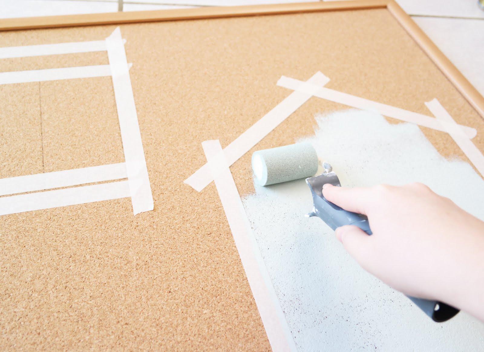 diy un tableau en li ge pour s 39 organiser shyly lovely. Black Bedroom Furniture Sets. Home Design Ideas