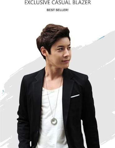 limited shoping korean style  jas blazer single button bk01